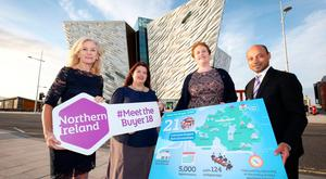 From left: Jill Grant from A Walkers World, New Zealand; Naomi Waite, Tourism NI; Louise Finnegan, Tourism Ireland, and Matthew Sebastian from Al Tawfeeq in the Middle East