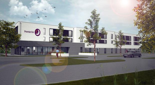 An artist's impression of how the new Premier Inn will look
