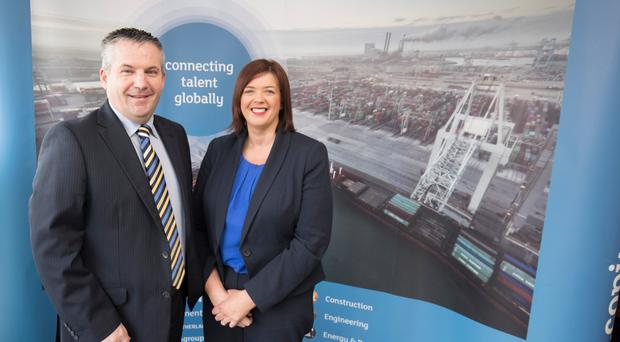 Brendan Carlin, MD of Copius, and Cathy McCorry, commercial director