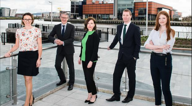 From left: Rosanne Brennan, associate, Richard Gray, joint head of the corporate team, Neasa Quigley, joint head of the corporate team, Paul McGuickin, senior associate, and Helen Boyle, solicitor