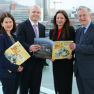From left, Belfast Telegraph Business Editor Margaret Canning, Kieran McGarrigle of Arthur Cox, Belfast Telegraph Editor Gail Walker and John Simpson