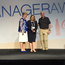 Joanne Walker receives the International Store Manager award at the FMI (Food Marketing Institute) Store Manager Awards during the Future Leaders Summit in Louisville, Kentucky