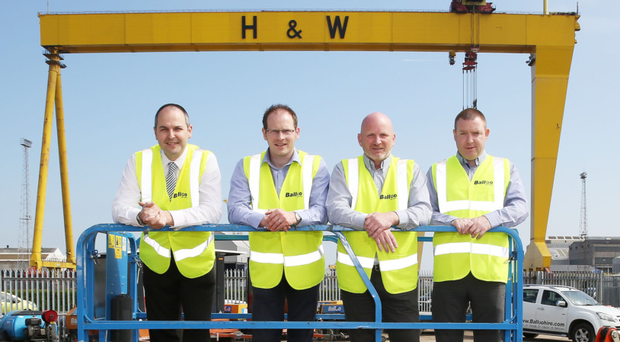 From left: Mark Grundy, Colin Magee, Alan McComb and Terry McAviney of Balloo Hire