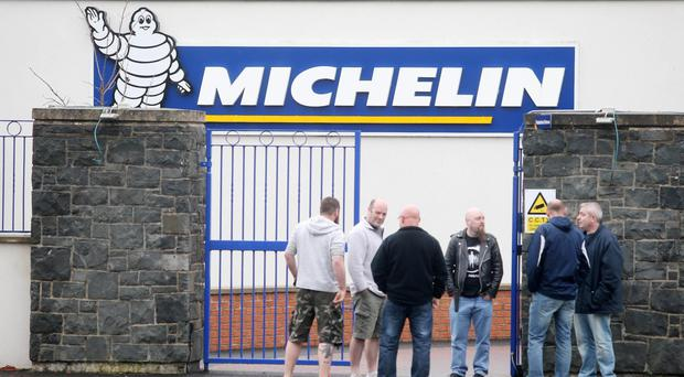 Production at the Michelin plant in Ballymena came to a halt last month