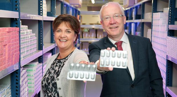 Grainne McVeigh of Invest NI and Laurence O'Kane, iMed NI
