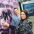 Digital DNA founder Gareth Quinn with Lord Mayor of Belfast Deirdre Hargey