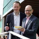 Conor Boyle of Lidl director with Stephen Cameron of Dale Farm