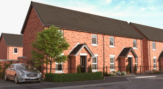 An artist's impression on what the new homes will look like