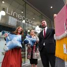 Linenopolis curator Rene Mullin, Jo Watson from Linen Biennale and Chris McCracken from Belfast's Central Business District