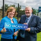 Kelli Bagchus and Bill Adamson from Carrickfergus Enterprise