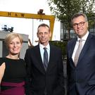 From left: Alison Donaldson and Michael Chissick of Fieldfisher with Alastair Hamilton of Invest NI