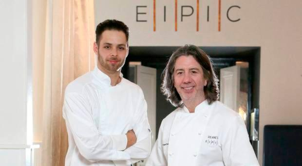 Eipic head chef Alex Greene with Michael Deane