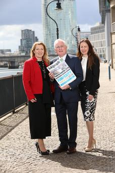 Clare McAllister, sales and marketing manager of Electric Ireland, Professor Alastair Adair, deputy vice chancellor Ulster University, and Gail Walker, Editor of the Belfast Telegraph, launch the 2018 Property Awards