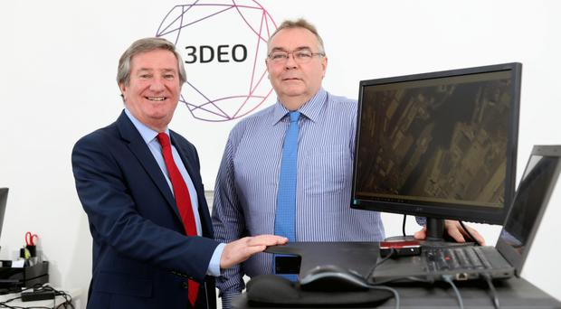 Invest NI's Bill Montgomery and Andy Macpherson of 3DEO