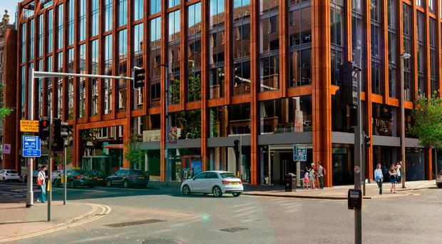 Merchant Square is one of many new office developments in Belfast