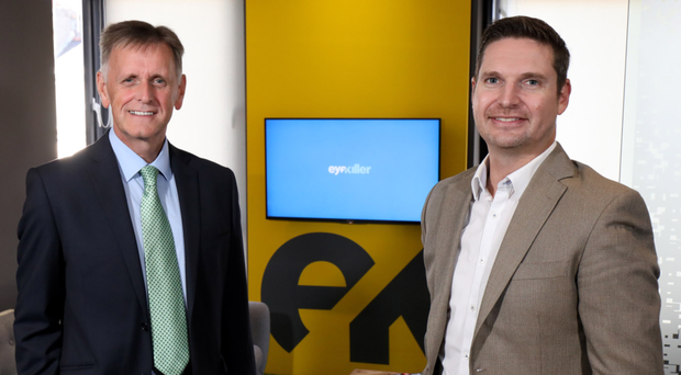 From left, Mark Bleakney, southern regional manager at Invest NI and Jamie Robinson, creative director, Eyekiller