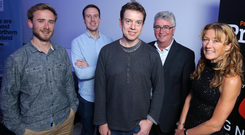 Tristan Watson, Ignite NI; Cormac Quinn, loyalBe; Bob Marks, Video First; Niall Casey, Invest NI, and Cathy Craig, INCISIV