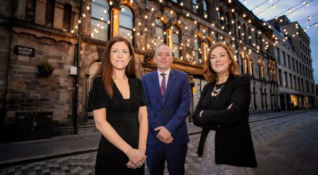 Caitriona Allis and Gareth Latimer of ACCA with CBI Northern Ireland director Angela McGowan