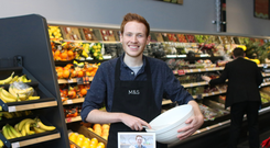 Andrew Smyth made a guest appearance at the opening of the new M&S food hall in Craigavon