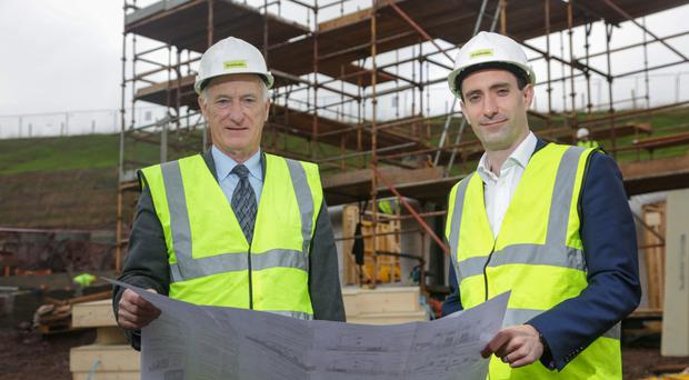 Braidwater's Patrick McGinnis (left), and son Joe. The Londonderry home building firm was the first NI company to receive BGF investment funding