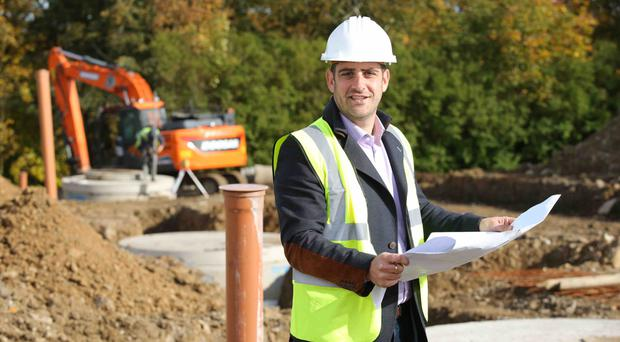 Jamesy Hagan of Seventh Developments on site as work begins on 21 new homes in £2.5m development in Dromore