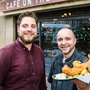 General manager of Cafe on the Square Michael Campbell, with head chef David Knox