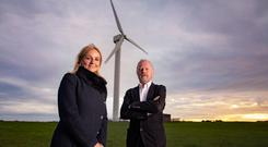 Bill Wolsey, managing director of Beannchor Group, with Shauna Forbes from 3T Power