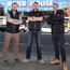 From left: Brendan McPeake, Martin O'Rourke and Liam Martin of Premier Electrics outside River House in Belfast, where the company recently completed work