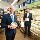 Philip Morgan (left), sales director at Around Noon, and Gareth McAnlis, food development manager, Fresh Foods at Henderson Wholesale