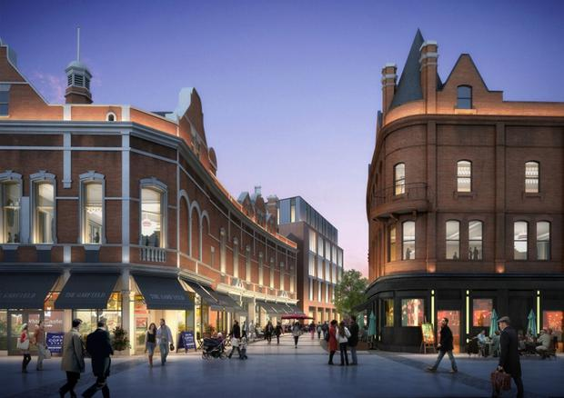 Castlebrooke Investments' images of Tribeca Belfast, 12-acres bordering Royal Avenue, Donegall Street, Lower Garfield Street and Rosemary Street