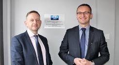 MJM Group CEO Gary Annett (left) with the Mayor of Pruszcz Gdanski, Mr Janusz Wróbel