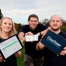 Emma Kerr, Andrew Cuthbert and Andrew Gough of GCD Technologies