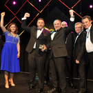 From left, Holly Tucker of notonthehighstreet.com, Fiona Rice and Alastair Coulson of Lotus Property, Chris Nelmes of The Boulevard, James Con, awards chairman, and John Turner, Turnerbates Design and Architecture