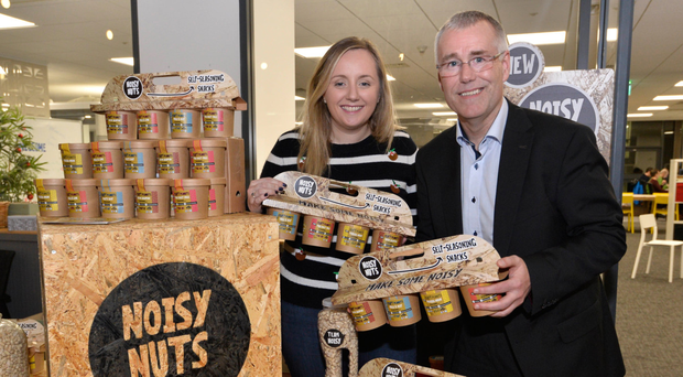 Ulster Bank's accelerator programme held a Christmas market, where Lynsey Cunningham was joined by Richard Donnan