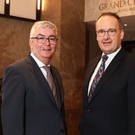 Niall Casey (left) of Invest NI with Howard Hastings