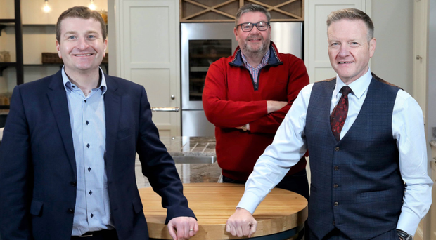 From left: Simon Oliphant, Paul Donnelly and Eamon Donnelly from Uform