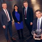 From left: Ciaran McConnell, managing director, JP Corry, Sonia Armstrong of Ulster Business, Kieran Harding, managing director, Business in the Community and Noel Mullan, commercial director, Heron Bros