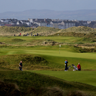 Golfers on the course at Royal Portrush, home of the 2019 Open