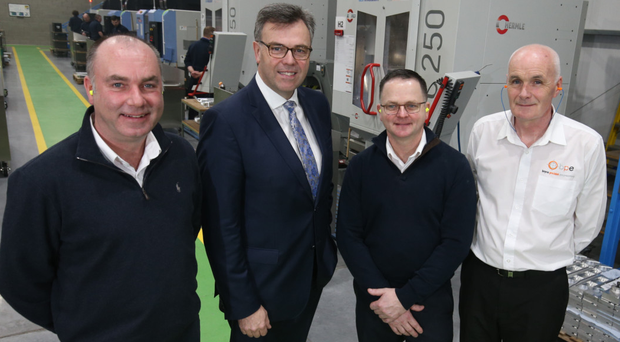 Invest NI boss Alastair Hamilton (second left) with Boyle Precision Engineering directors George Boyce and Brian Boyce and operations manager Brian Perry