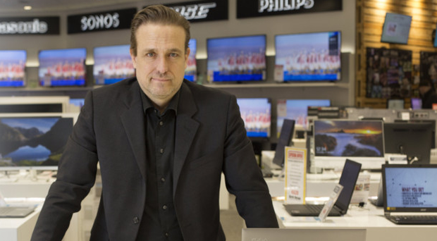 Harvey Norman CEO Blaine Callard inside the flagship store in Tallaght