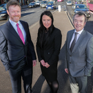 From left, Ken Rutherford, executive partner with DWF Belfast, Ciara Liddy, associate with DWF Belfast, Gareth Jones, partner with DWF Belfast and Gerard Ward, senior associate with DWF Belfast