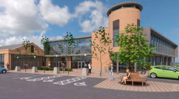 An artist's impression of The Front, a planned new retail development in the centre of Holywood