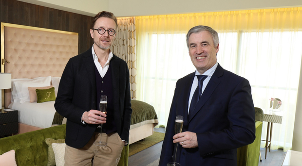 Fitzwilliam general manager Cian Landers with Christopher Ash of designers Project Orange