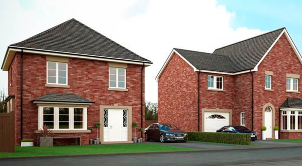 A CGI impression of the homes to be built in Manse Road, Newtownards
