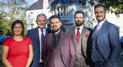 From left: Julie McIlwaine and Stephen Comer of First Trust Bank with Barry and Adam Kemp and Sam Harding at The Beech Hill Hotel