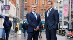 Ortus director in NI Shane Donnelly (left) and the property lending company's managing director, Jon Salisbury