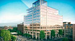 Artist's impressions of the 250,000 sq ft One Bankmore Square development, which was granted planning approval in 2017, but is now deemed too large for Kainos