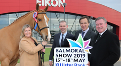From left: RUAS director Rhonda Geary with Nigel Walsh and Cormac McKervey from Ulster Bank and Alan Crowe, chief executive of RUAS