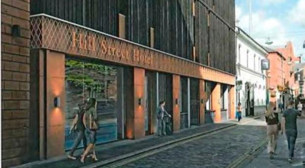 An artist's impression of how the proposed new hotel could look