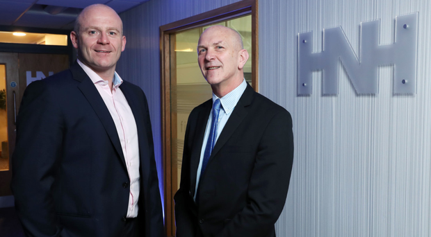 HNH director Wayne Horwood and Invest NI director of technology and services George McKinney